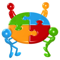 Working Together Teamwork Puzzle Concept By lumaxart on flickr