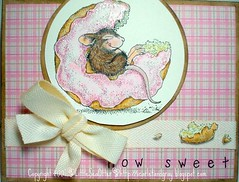 How Sweet It Is (Buckeye) Tags: pink mouse sweet donut doughnut picnik rubberstamping housemouse stickles prismacolorpencils sc156 bristolsmooth