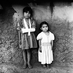 Sisters (mexadrian) Tags: chickens rural mexico trix nayarit hasselblad mexican cast adobe sling squareformat huichol brokenarm 80mm huicholes avertedvision pochotitan adrianmealand