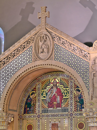 Saints Teresa and Bridget Roman Catholic Church, in Saint Louis, Missouri, USA - altar mosaic 2