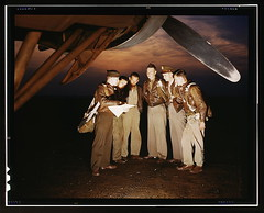 Here's our mission. A combat crew receives final instructions just before taking off in a mighty YB-17 bomber from a bombardment squadron base at the field, Langley Field, Va.  (LOC) (The Library of Congress) Tags: libraryofcongress dc:identifier=httphdllocgovlocpnpfsac1a35094 xmlns:dc=httppurlorgdcelements11 crew military yb17 briefing uniform bomber alfredtpalmer alfredpalmer ww2 wwii worldwarii worldwar2 wartime war 1942 langleyfield virginia langleyairforcebase bombercrew finalinstructions twilight airmen meninuniform uniformed may may1942 pilots flyboys boeing b17 flyingfortress aviation aircraft airplane boeingyb17 b17flyingfortress militaryaviation boeingb17flyingfortress boeingb17 boeingflyingfortress