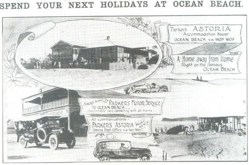 Ocean Beach postcard 1924