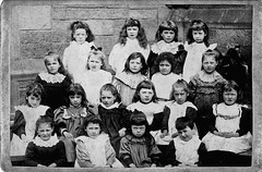 Schoolgirls (1888) (musicmuse_ca) Tags: family school 15fav edinburgh elizabeth yearbook class cabinetcard 1888