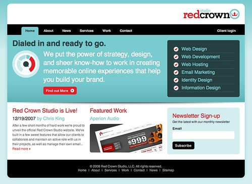 red crown studio web page