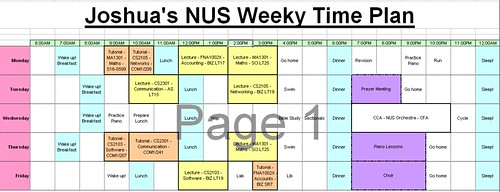 Semester 2 Timetable