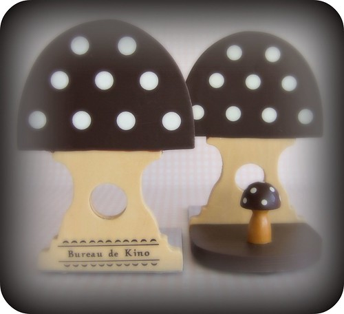 Mushroom Bookends - Brown
