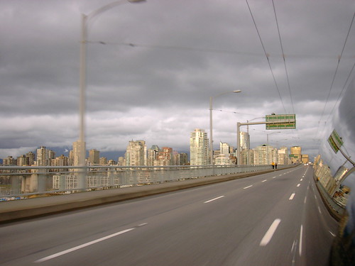 Clouds over the Granville Street Bridge, January 2003