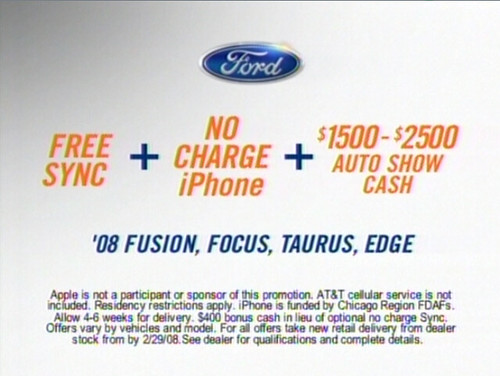 Buy a Ford, Get Sync, Get an iPhone