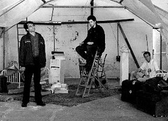 (Rt to left) Davies, Ben Hadley (Mick) and Nathan Parkin (Aston), directed by Rikki Tarascas