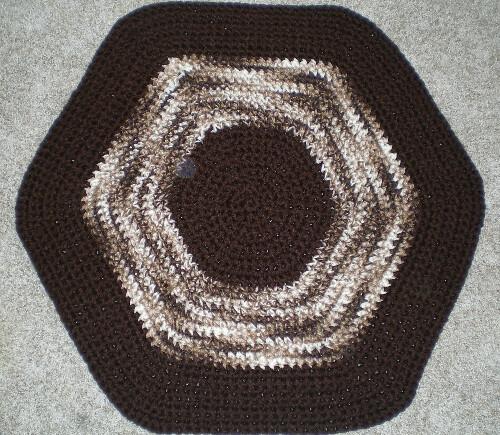 Brown and Tan Multi yarn rug