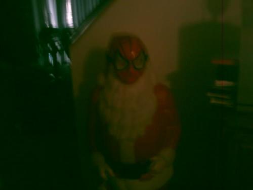 santa is now spiderman