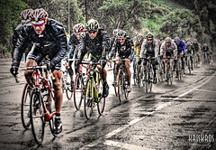 soaking wet and cool tour (Kris Kros) Tags: california ca storm sports rain bike bicycle rose race photography high nikon bravo cyclist tour searchthebest dynamic pacific bowl socal rainy kris rosebowl d200 pasadena 2008 range hdr amgen kkg photomatix kros kriskros tourofcalifornia 1xp kk2k kkgallery