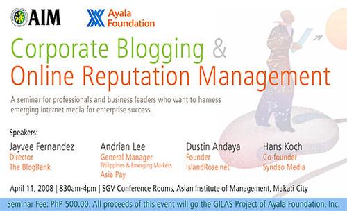 corporate blogging & online reputation management