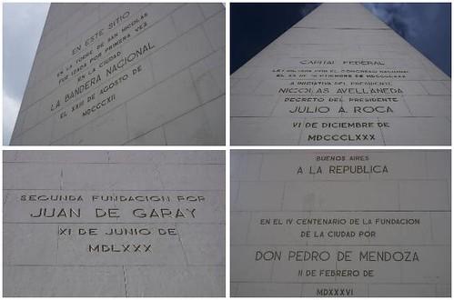 inscripciones del obelisco
