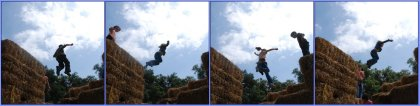 Straw bale jumping