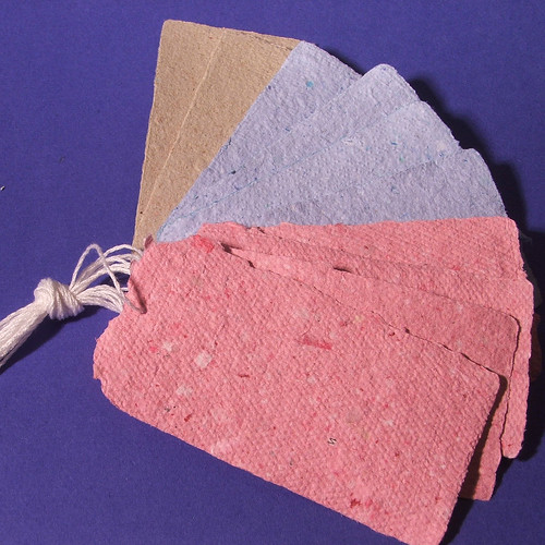 Handmade Recycled Paper Hang Tags by Claudia's Creations