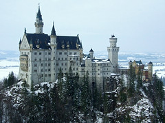 Neuschwanstein Castle - Schwangau, Germany (tossmeanote) Tags: bridge snow castle germany deutschland bavaria europa europe view landmark neuschwanstein markstein marienbrucke tossmeanote