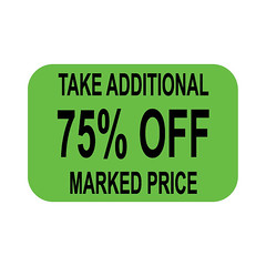 75% off Label