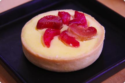 rhubarb rose tart