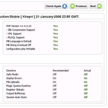 check your server whether it meet joomla requirement
