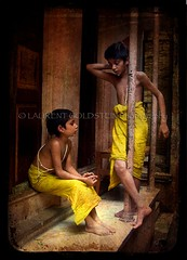 Beyond Orientalism (designldg) Tags: boy people india feet yellow kids child religion varanasi hindu yuva benaras uttarpradesh  indiasong brahnam ysplix articulateimages hourofthesoul childrenbestphotos