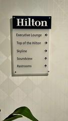 Sign on Top Floor at the Hilton Seattle (Evan Didier) Tags: hotel hiltonseattle seattle hilton room floort topfloor sign directions directional executivelounge topofthehilton skyline