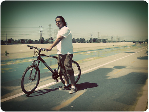 Juan and his new bike. (by Anitza V)