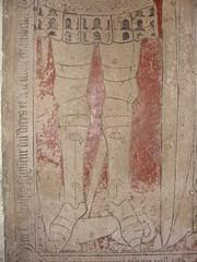 ca. 1418 - 'Arnould (Arnoud) du Wez (Weys), Chamberlain of Charles VI of France and of dukes Philip and John of Burgundy (+1418) and Marie Le Cherf (+1400)', glise Saint-Pierre-aux-Liens, Saint-Pierre-Brouck, dp. Nord, France (roelipilami) Tags: france church st marie john de frankreich jean jan pierre burgundy incised iglesia kirche charles du le karl knight frankrijk van chevalier grabstein bourgogne francia glise aux philip kerk philippe vi wez dalle nord dukes chamberlain karel slab caballero 1418 arnout ritter cerf filips funraire 1400 grabmal ridder sepulcro arnoud grafsteen ducs tombale burgund bourgondi liens arnould weys grafzerk chambellan cherf grafbeeld hertogen chambeln saintpierrebrouck sintpietersbroek pierreauxliens kammerherr