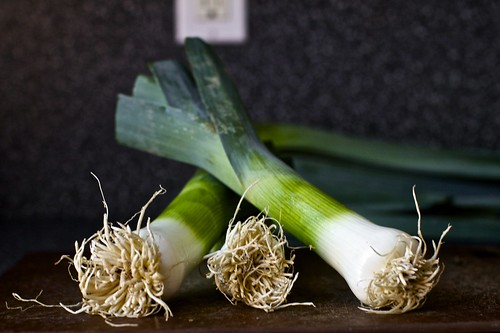Leek Toasts With Blue Cheese Recipe — Dishmaps