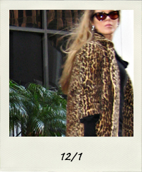 vintage leopard coat, all black outfit, black on black , tom ford cat eye sunglasses, anouk sunglasses, 12-1 outfit+what I wore