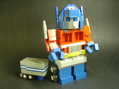 """Autobots, roll out!"" (Ezractly) Tags: lego transformers ezra minifig optimusprime"