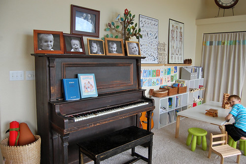 a view of the piano