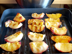 Grilled Peach and Vanilla Cake Trifle