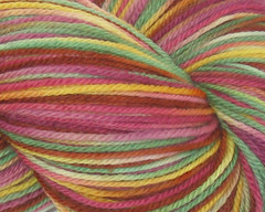 Masquerade on 3-ply merino sock yarn - 4 oz (WW)