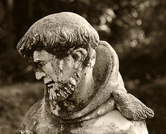 Sad Monk (www.LKGPhoto.com) Tags: sculpture statue stone sepia garden sadness interestingness sad bokeh monk explore marble meloncholy interestingness430 i500 wwwlkgphotocom