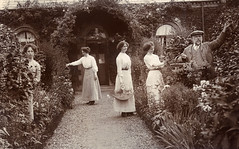 The Gardeners (lovedaylemon) Tags: flowers rose garden found arch basket path edwardian gardener
