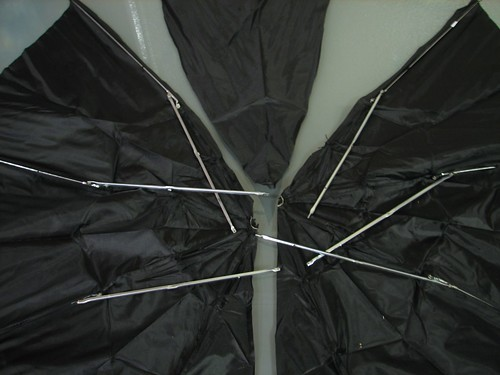 cutting the umbrella