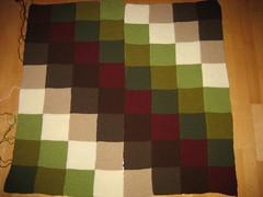Jan's blanket v 1.2, just one seam to sew (betty.) Tags: friends circle punto knitting media jan blanket manta punt manteta mitja