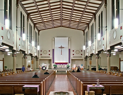 Saint Mary Magdalen Roman Catholic Church, in Saint Louis, Missouri, USA - nave.jpg
