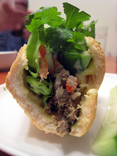 Asian meatball banh mi.