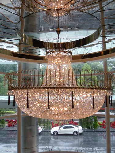 Chandelier at main entrance