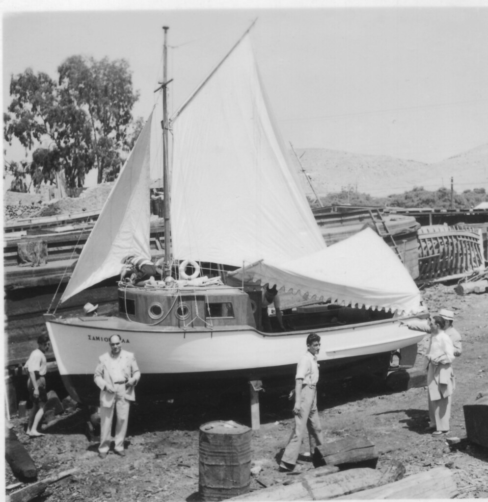 SAMIOPOULA before launching-May 1950