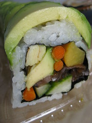 Vegetables can be tasty too (Rene S. Suen) Tags: food mushroom sushi japanese avocado healthy raw maki cucumber egg free vegetarian carrot roll burdock japanesefood pickle turnip lactose kokyo innards milkfree lactosefree kokyosushi renedinesout
