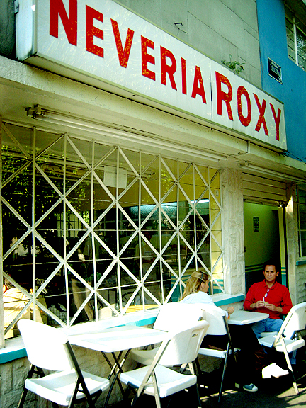 Neveria Roxy Ice Cream shop in Mexico City
