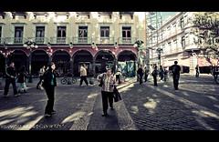 Any Given Sunday (Luis Montemayor) Tags: street morning woman building maana mexico calle mujer shadows edificio brenda puebla sombras myfavs