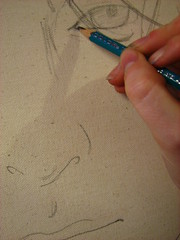 93: Neil Gaiman (Random42) Tags: painting sketch neilgaiman 365days