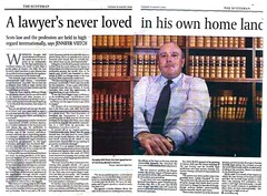 Douglas Mill - A Lawyer's never loved in his own home land - The Scotsman 15 August 2006