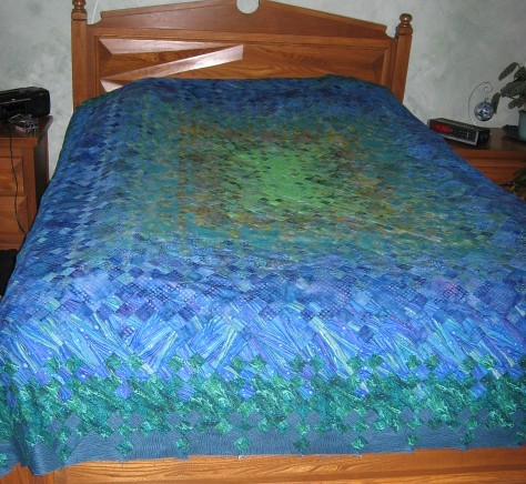 8quilt on bed