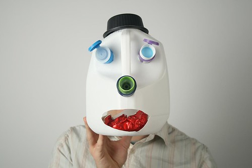 Mask made of recycled plastic