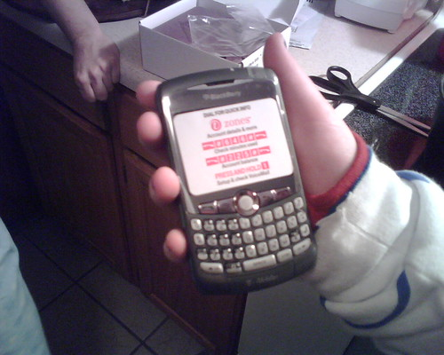 Unwrapping the new BlackBerry Curve